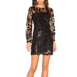 Cupcakes and cashmere black sequined laced dress